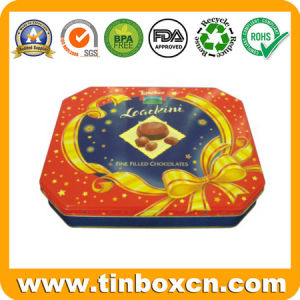 Food Packaging Box Octagonal Metal Tin for Cookies Biscuit Snack pictures & photos