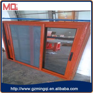 Aluminium Frame Coated Wooden Color Sliding Window