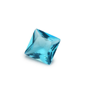 Machine Cut AAA Aquamarine 8mm Square Glass Gems Stone pictures & photos