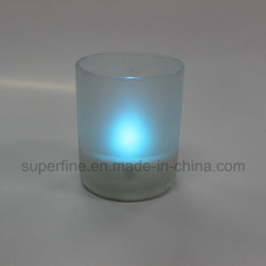 Pillar Multicolor Flameless Christmas Decoration Scented Candle in Jar Glass Frosted pictures & photos