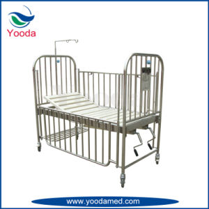 Stainless Steel High Rail 2 Crank Children Bed pictures & photos
