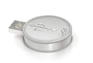 Leather Round Shape USB Stick Flash Memory Pen Drive pictures & photos