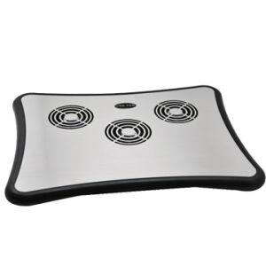 Aluminium Notebook Cooling Pad Non-Slip Mat with 4 USB Hub Style No. CF-303