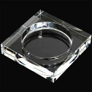 Pure Decorative Crystal Ashtray for Office or Decoration