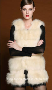 Qy-A3 Faux Fox Fur Vest for Women′s Midium -Long Fox Fur Vest