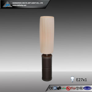 Cylinder Desk Lamp with PU Covered Wooden Base (C5004103) pictures & photos