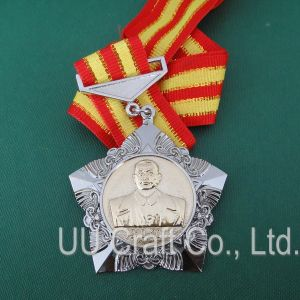 Custom Gold-Silver Plated Star Medal (MD-021)
