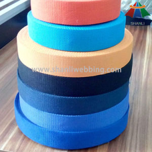 Colorful Flat Woven Cotton Polyester Webbing