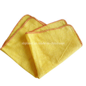 Cottn Yellow Color Duster Cleaning Cloth Towel pictures & photos