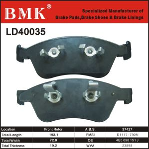 Environment Friendly Brake Pads (LD40035) for Audi pictures & photos
