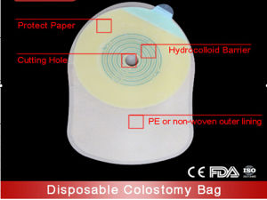 Ce Certified One System Colostomy Bag with Open Entry pictures & photos