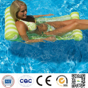 Traditional Hammock-Style Lounge Fabric Covered Floatchair Inflatable