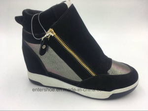Fashion Lady Hidden Wedge Shoes with Zipper (ET-XK160219W)