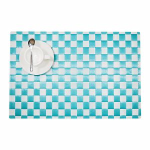 Two Colors Polyester Woven Placemat for Tabletop