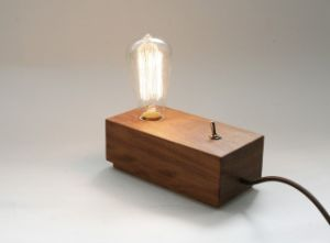 Wood Table Lamp Base