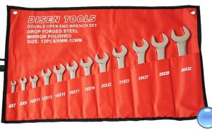 Mirror Finish 12PCS Double Open End Wrench Set (6-32)