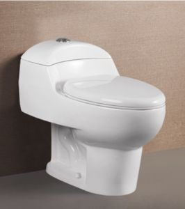 Hot Sale Bathroom Ceramic Water Closet Siphonic One Piece Toilet