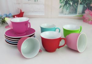 Ceramic Colorful Cup&Saucer Coffee Cup and Plate