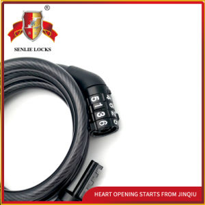 Black Color Security Bicycle Spiral Password Lock pictures & photos