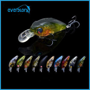 Mini Fishing Crank Baits 3.5g 35mm Fishing Hard Lures with Bkk Black Steel Hooks for Catching Black Sea Bream