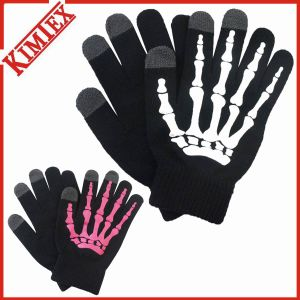 Unisex Wholesale Fashion Knitted Acrylic Touch Screen Glove pictures & photos