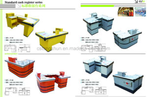 High Quality Supermarket Cashier Check out Desk/Table/Counter pictures & photos