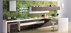 Uppper Cabinets and Pantry Cabinets in Wood Veneer Finishes