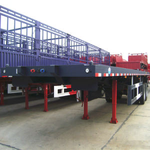 CCC ISO Approved 2 Axles Flatbed Semitrailer