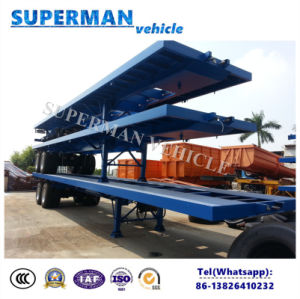 40FT 2 Axle Container Transport Cargo Flatbed Truck Trailer pictures & photos