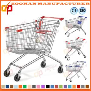 Chrome or Zinc Wheeled Grocery Cart Wire Shopping Trolley (Zht158) pictures & photos