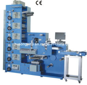 Flexo Label Printing Machine with Rotary Die Cutting pictures & photos
