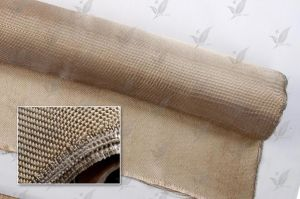 Heat Treated Fiberglass Cloth Golden Colour pictures & photos