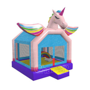 Rainbow Unicorn Inflatable Bounce House Chb771