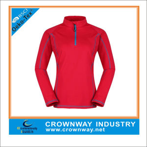 Women′s Microchill Zip T Coolmax Active Sport Tops (CW-AT1514) pictures & photos