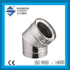Spigot Lock Double Wall 45degree Elbow Stainless Steel Chimney Elbow