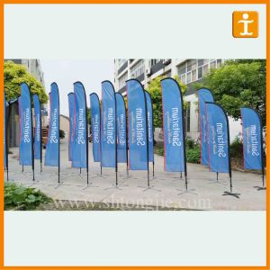 Outdoor Swooper Exhibition Flag with Pole (TJ-75) pictures & photos