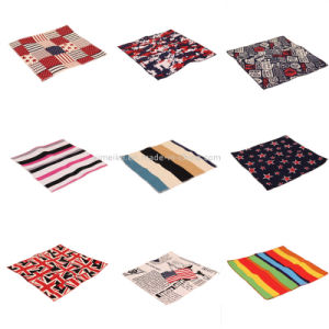 Fashion Unisex Cotton Fabric Flag Patterns Small Handkerchief