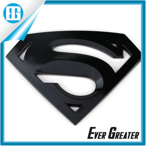 Superman 3D Glossy Black Car Emblem Badge Steel pictures & photos