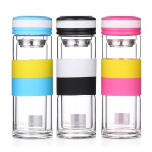Double Wall Water Bottle with Silicone Cover