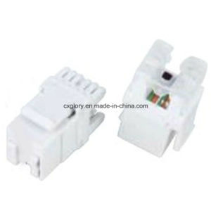 180 Degree RJ45 Cat. 5e/Cat. 6 Keystone Jack (GL-1136) pictures & photos