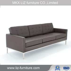 Metal Frame Office Leather Sofa Couch