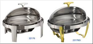 Oval Roll-Top Chafing Dish Set with 6.8L Food Pan (23176/23176G) pictures & photos
