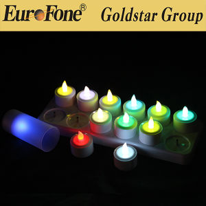 LED Rechargeable Color Changing Flame Candle with Remote pictures & photos