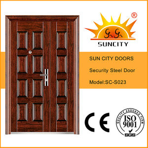 Villa Entrance Door Steel Leaf with Sidelites (SC-S023) pictures & photos