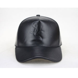 Leather Strap Flat Leather Brim Baseball Cap pictures & photos