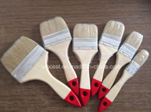 100% Pure Bristle 633 Paint Brush with Wooden Handle