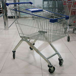 Metal Wire Supermarket Used Shopping Trolley pictures & photos