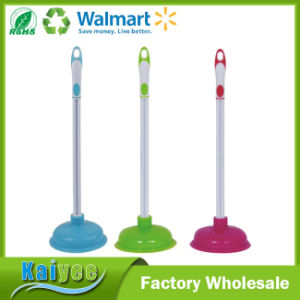 Custom Colorful Rubber Toilet Pump Plunger with Plastic Handle pictures & photos