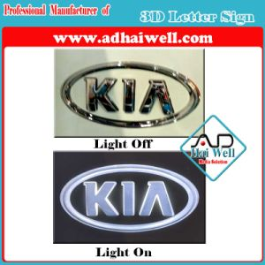 Blister and Seamless 3D Acrylic Letters Vacuum Coating Car Logo Sign pictures & photos