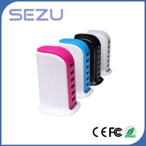 Multiple Color 30W 6A Portable Charger with 6 USB for iPhone, iPad Air 2, Samsung Galaxy, Nexus, HTC, Nokia and More pictures & photos